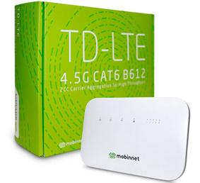 مودم رومیزی TD_LTE مبین نت با طرح ورود یک ساله 600 گیگا بایت